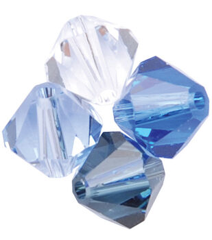 6mm Create Your Style Swarovski Bicone Beads-Blue Belle Mix 15/pk
