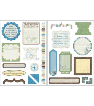 Kaisercraft Die-Cut Embellishments-21PK/Pack Your Bags