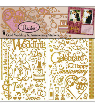 Hot Off The Press Dazzles Stickers-Wedding & Anniversary