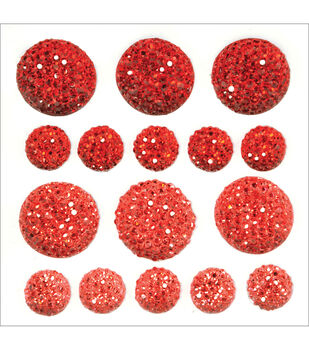 Sparklets Self-Adhesive Rhinestone Clusters-Rouge