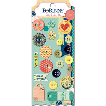 Bo Bunny Family Is Buttons & Embellishments
