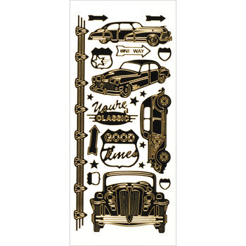 Hot Off The Press Dazzles Stickers Vintage Car Black