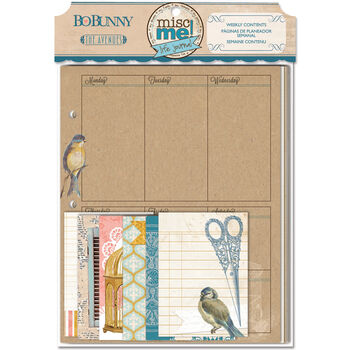 Bo Bunny The Avenues Misc Me Binder Contents Weekly