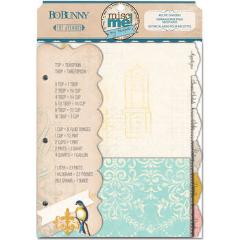 Bo Bunny The Avenues Misc Me Binder Dividers Recipe