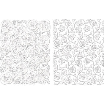 Spellbinders M-Bossabilities A2 Card Embossing Folder Cabbage Rose