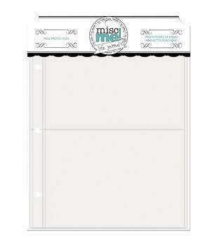 Bo Bunny Misc Me Variety Pack Recipe Page Protectors 8''x9''