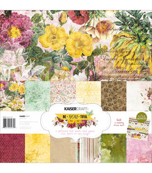 "Kaisercraft Paper Pack 12""X12"" 12/Pkg-Be-You-Tiful"