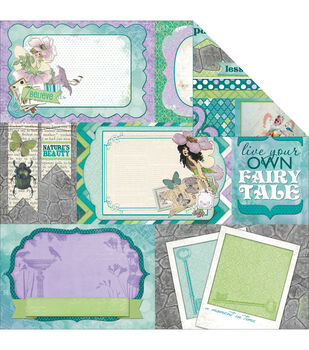 """Enchanted Garden Double-Sided Cardstock 12""""X12""""-Pixies"""