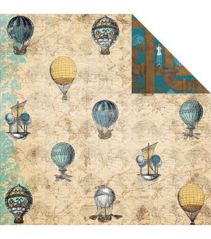 """Somewhere In Time Double-Sided Cardstock 12""""X12""""-Balloons"""