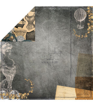 """Somewhere In Time Double-Sided Cardstock 12""""X12""""-Elegance"""