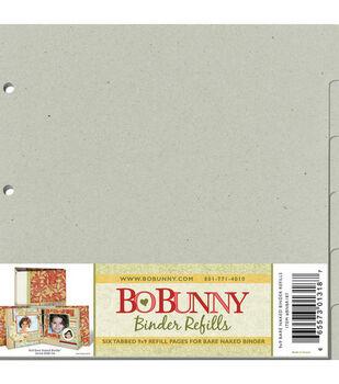 Bo Bunny Bare Naked 9''x9'' 3-Ring Binder Refills-6PK