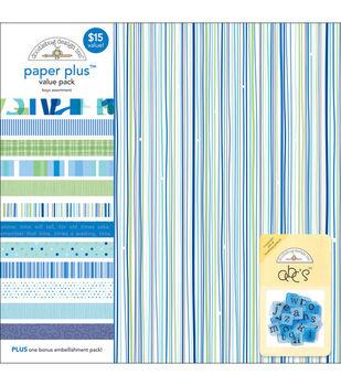Doodlebug 12''x12'' Paper Plus Pack-12PK/Boys