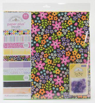 Doodlebug 12''x12'' Paper Plus Pack-12PK/Teen Girl