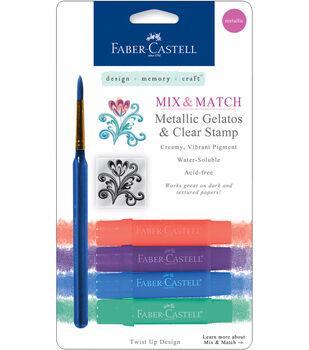 Faber-Castell design-memory-craft Mix & Match Gelatos Stick W/Clear Stamp