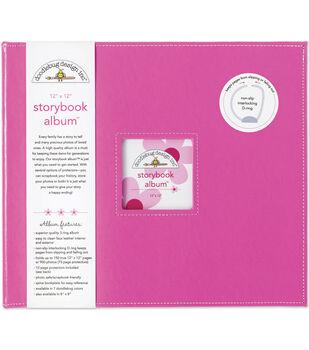 Doodlebug Storybook Album 12''x12''-Bubblegum
