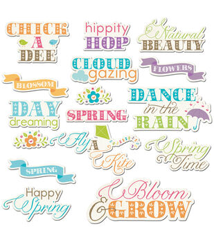 Hippity Hop Die-Cuts-Cloud Gazing Word