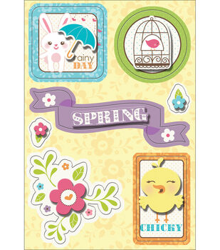 "Hippity Hop Sticker Stackers 4.75""X7""-Rainy Day"