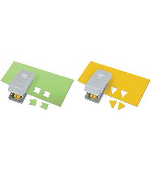 Slim Mini Paper Punches 2/Pkg-Pennants