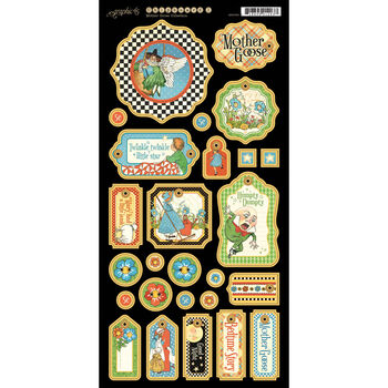 Graphic 45 Mother Goose Chipboard Die-Cuts Tags 1