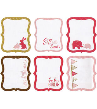 "My Baby Girl Die-Cut Journaling Tags 3""X3.5"" 18/Pkg-6 Designs/3 Each"