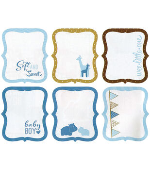 "My Baby Boy Die-Cut Journaling Tags 3""X3.5"" 18/Pkg-6 Designs/3 Each"