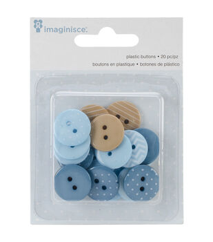 My Baby Boy Buttons 20/Pkg-Blue