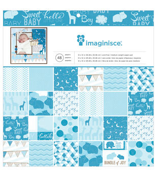 "My Baby Boy paper Pad 12""X12"" 48/Sheets-Single-Sided"