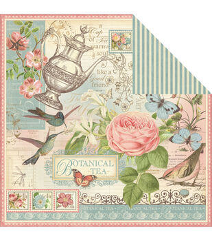 Graphic 45 Botanical Tea - Botanical Tea Double Sided Cardstock