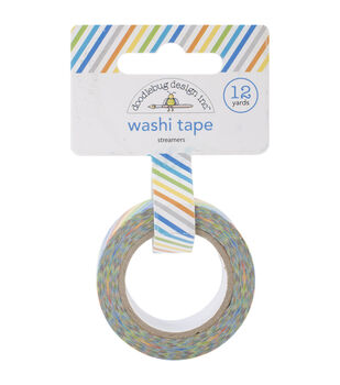 Doodlebug Streamers - Hip Hip Hooray Washi Tape