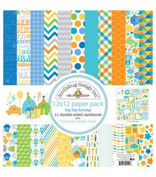Doodlebug 12X12in - Hip Hip Hooray Paper Pack