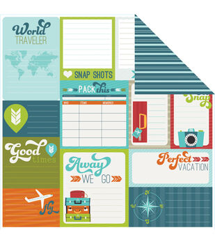 Imaginisce Away We Go - Perfect Vacation Double Sided Cardstock