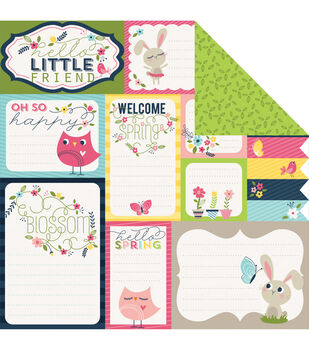 Imaginisce Spring Journal - Welcome Spring Cardstock