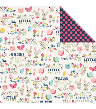 Imaginisce Hello Friend - Welcome Spring Double-sided Cardstock