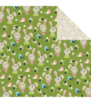 Imaginisce Hop To It - Welcome Spring Double-sided Cardstock