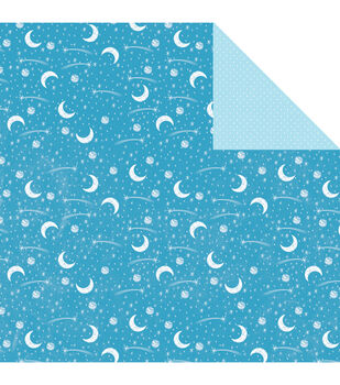 "My Baby Boy Double-Sided Cardstock 12""X12""-Blue Moon & Stars"