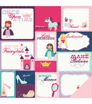 "Little Princess Double-Sided Cardstock 12""X12""-Once Upon A Time"