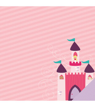 "Little Princess Double-Sided Cardstock 12""X12""-Castle Friends"
