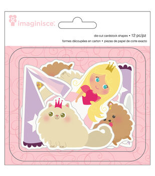 Little Princess Cardstock Die-Cuts 12/Pkg-Blonde Hair Princess, 4 Shapes/3 Each