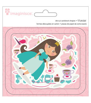Little Princess Cardstock Die-Cuts 12/Pkg-Brown Hair Princess, 4 Shapes/3 Each