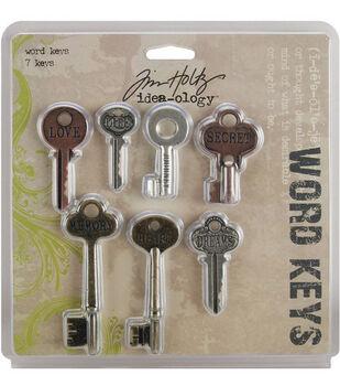 Tim Holtz Idea-Ology Word Keys Antique Metallic