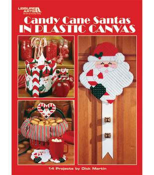 Leisure Arts Candy Cane Santas