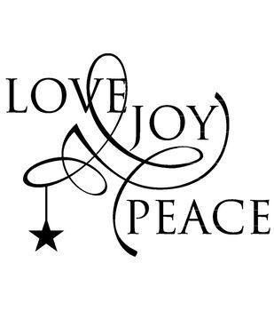 Stamp-It Holiday EZMount Cling Stamp Set-Love Joy Peace
