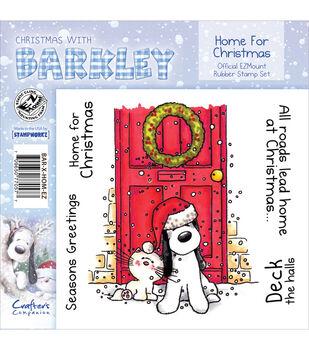 "Barkley EZMount Christmas Cling Stamp Set 4.75""X4.75""-Home For Christmas"