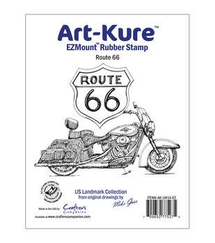 "Art-Kure Landmarks EZMount Stamp 4""X3""-Route 66"