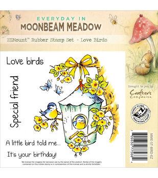 """Moonbeam Meadow Everyday EZMount Stamp Set 4.75""""X4.75""""-Love Birds"""