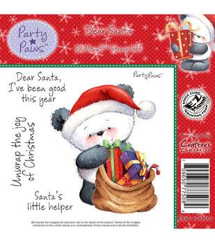 """Party Paws EZMount Stamp Set 5.5""""x8.5""""-Dear Santa"""