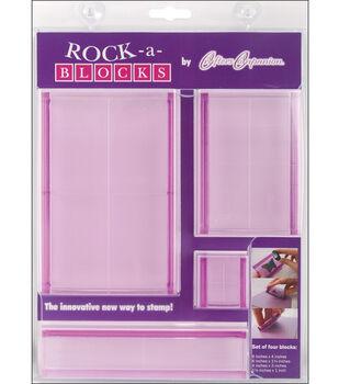 Crafter's Companion Rock-A-Blocks Stamp Block Set-4PK