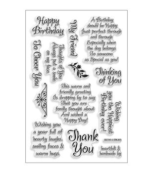 """Stampendous Perfectly Clear Stamps 4""""X6"""" Sheet-Friendly Phrase"""