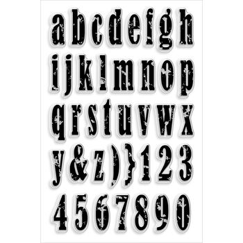 Stampendous Perfectly Clear Stamps Vintage Lowercase