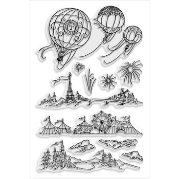 Stampendous Perfectly Clear Stamps Hot Air Scapes